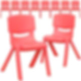 "Item#1001: ten red chairs (12"" high)"