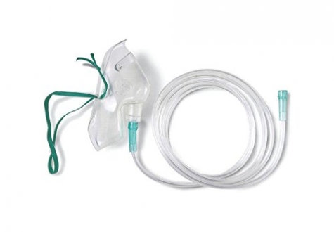 Oxygen Mask with 7ft Tubing, Adult