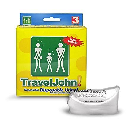 TravelJohn™ Disposable Urinal - 3-Pack
