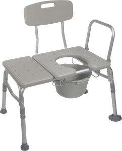 Combination Transfer Bath Bench & Commode