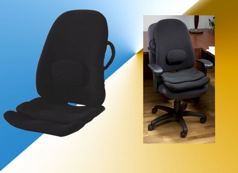 Obusforme 2-in-1 Combination Lowback Backrest And Contoured Seat Support System