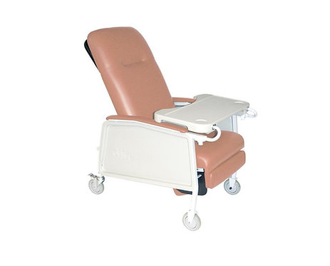 (Rose Pink) 3 Position Geri Convalescent Recliner Chair