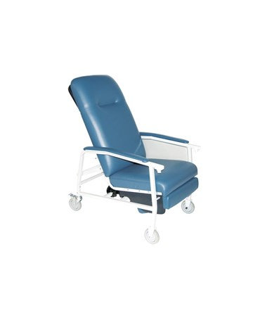 (Blue) 3 Position Geri Convalescent Recliner Chair (2 Sizes available)