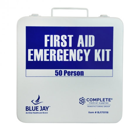 First Aid Kit, 50 Person in a Metal Case
