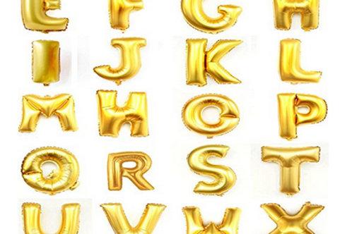 Gold Alphabet Balloons