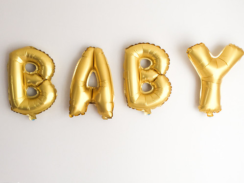gold mylar available in various expressions roar beep star love baby girl