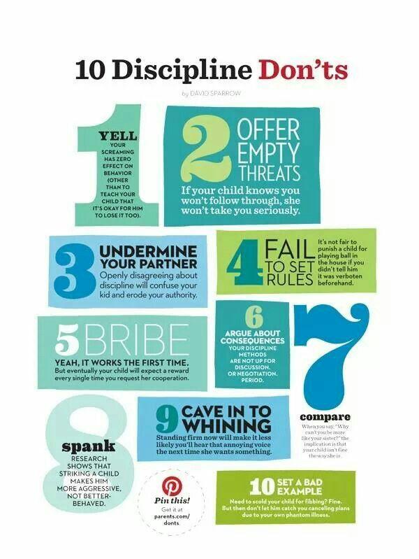 Discipline means to teach...