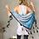 Thumbnail: Blue Mist Tassel Chain Scarf
