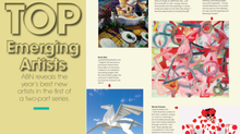 Voted Top Emerging Artist in Art Business News