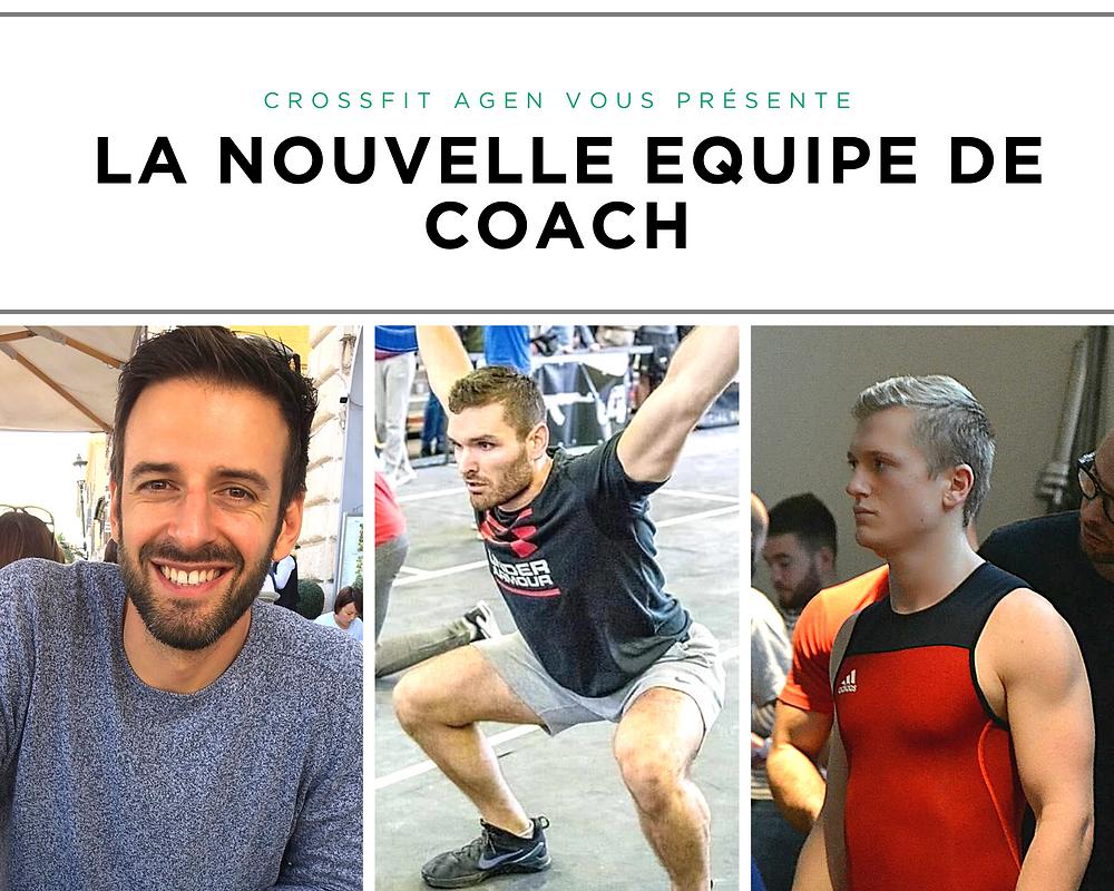 Les 3 nouveaux coach de CrossFit Agen