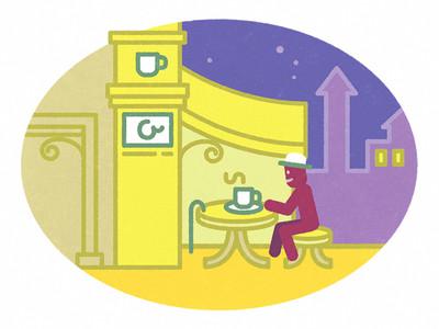 Mr Olaf a kávézóban
