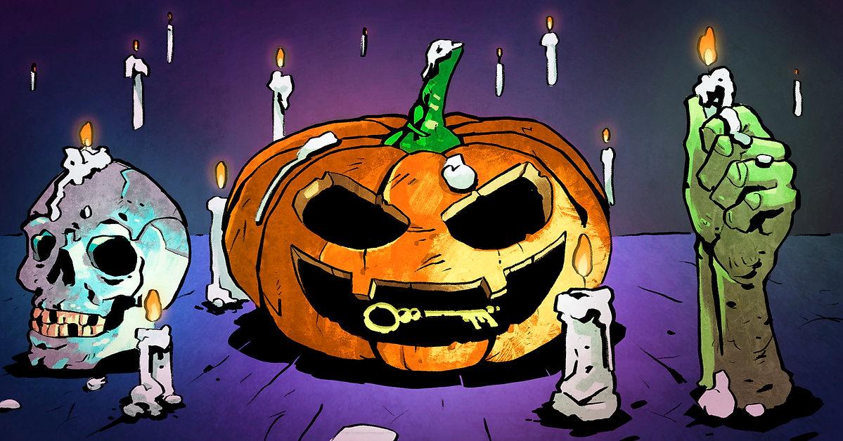 Halloween, Halloween reklám, Locked Room, Szabadulószoba, Escape Room, Szőke-Kiss Márton, szabadúszó, illusztrátor, grafikus, budapest, békéscsaba