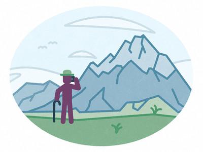 Mr Olaf lefényképezi a hegyeket Instagramra