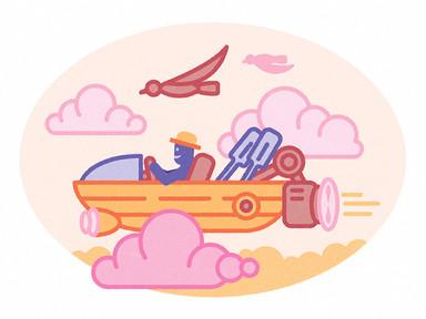 Mr Olaf a repülő csónakban