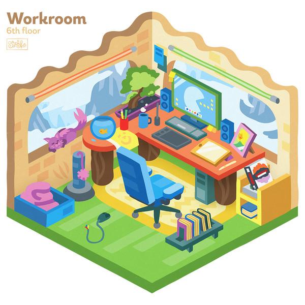 Dolgozószoba - 6. szint
