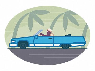 Mr Olaf Cadillacet vezet