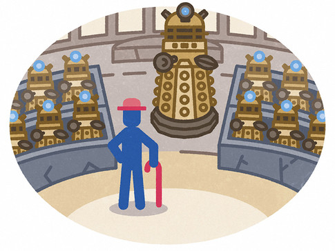 """""""First there were the Daleks. And then there was a man who fought them."""""""