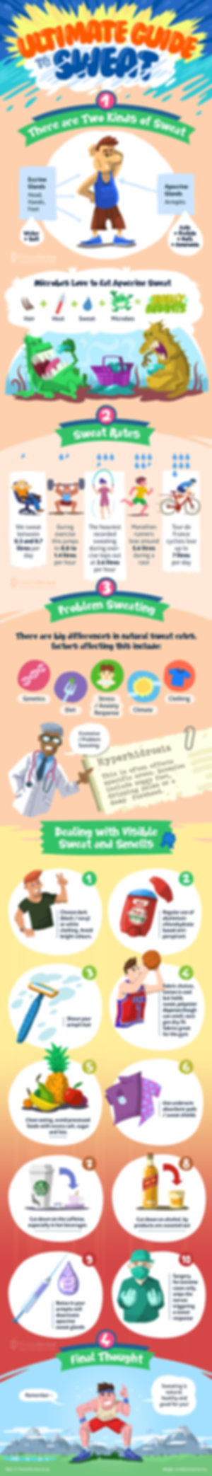ultimate guide to sweat, izzadás, infografika, fitnessreview, Szőke-Kiss Márton, szabadúszó, illusztrátor, grafikus, budapest, békéscsaba