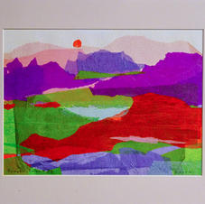 Sample Matted Tissue Paper Collage