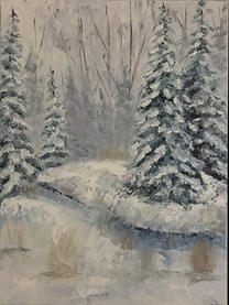 """Janet Greco    """"Winter Pines"""""""