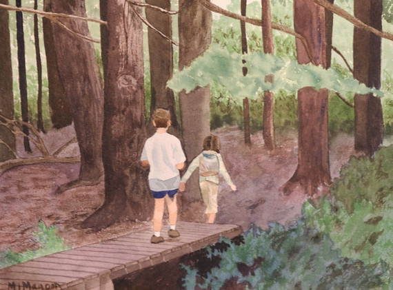 Mary Jane Magoon:  Friends Taking a Hike