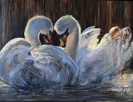 "Tatiana Rhinevault    ""Swans"""