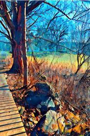 "Karen Sepp   ""Spring Hike, Great Hollow """