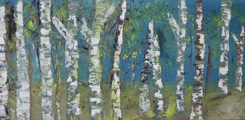 Sheila Marie Doyle - Deep Woods Birches