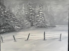 """Janet Greco    """"Black and White Pines"""""""