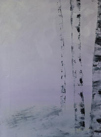 """Sheila Marie Doyle   """"Purple Birches"""""""