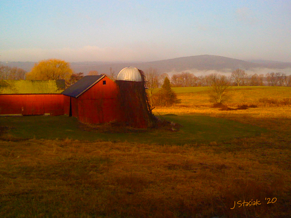 Jim Stasiak - Barns at Sunrise