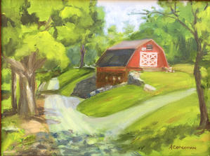 "Arline Corcoran     ""Great Hollow Barn"""