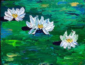 "Christy Bonaiuto    ""Lillies on Green Pond"""