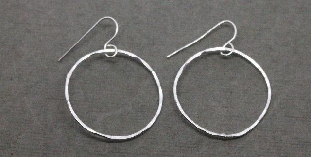 Medium Sterling Silver Hoop Earrings