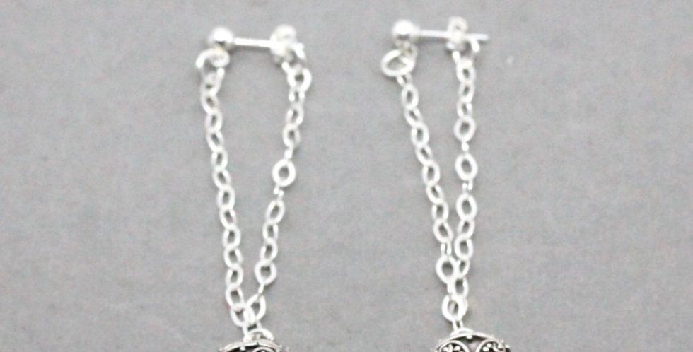 Hill Tribe Sterling Silver Chain Earrings