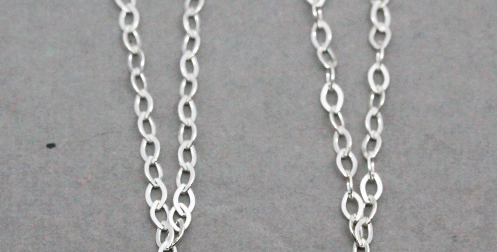 Herkimer Diamond Silver Chain Earrings