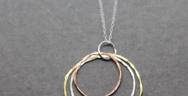 Mixed Metal Circle Necklace