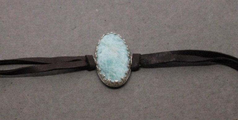 Leather Wrap Amazonite Bracelet