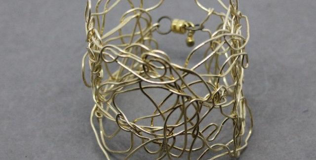 Brass Wire Cuff/Bracelet