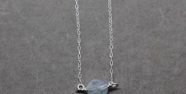 Silver Aquamarine Necklace