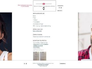 Nystartad skönhetsklinik har nu ett digitalt skyltfönster