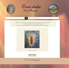 Bild på startsidan www.cissicatelje.com, klicka och surfa..