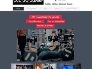 En hemsida för fyra gym