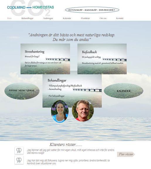 Startsidan på www.coolmind.se