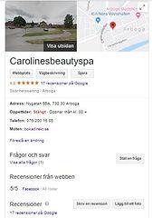 Bild på Google My Business för Carolinesbeautyspa