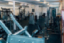 Interiörbild på gymmet i Kungsör. Margrete Lundgren. Foto: Klemets & Zackrisson
