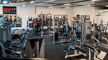 Maskinpark inne på vårt gym i Kolsva. Margrete Lundgren. Foto: Klemets & Zackrisson