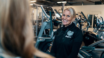 Margrete Lundgren. Interiörbild på gymmet i Kungsör. Margrete Lundgren. Foto: Klemets & Zackrisson