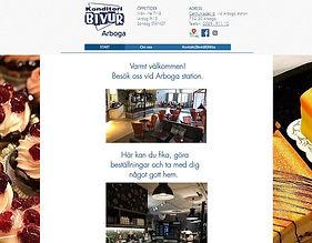 Bild på starsidan www.bivurarboga.se, klicka och surfa