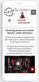 Bild på startsidan www.pchifi.se mobilversion, klicka och surfa...